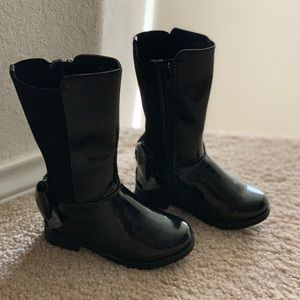 Toddler girl patent leather boots size 7